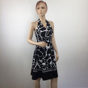 White House Black Market Halter Fit & Flare Dress